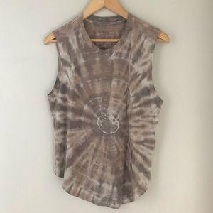 Raquel Allegra designer tie dye short sleeve top 2